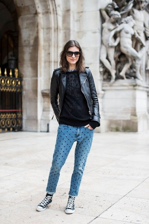 LE FASHION BLOG 3 WAYS ISABEL MARANT POLKA DOT JEANS PARIS FASHION WEEK KATI NESCHER VIA A LOVE IS BLIND MODEL OFF DUTY STYLE INSPIRATION LEATHER MOTO JACKET SHEER KNIT JEANS BLUE CONVERSE HIGH TOP SNEAKERS 2 photo LEFASHIONBLOG3WAYSISABELMARANTPOLKADOTJEANSPARISFASHIONWEEKKATINESCHERVIAALOVEISBLIND2.jpg