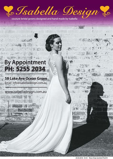 Isabella Design   Printed Bridal Magazine Advertisements