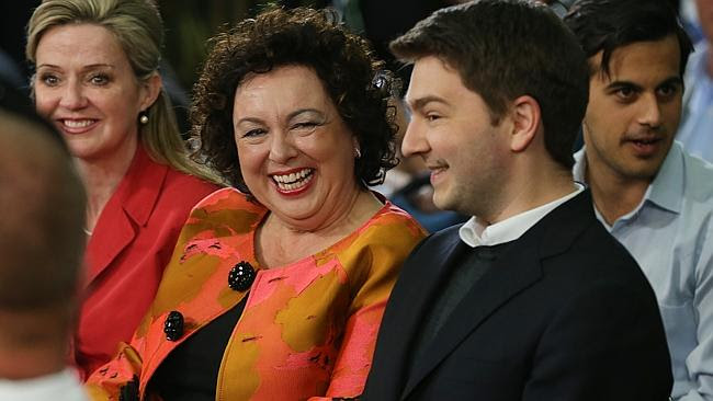 Therese Rein, pictured with son Nicholas, has sold her company to a US company.