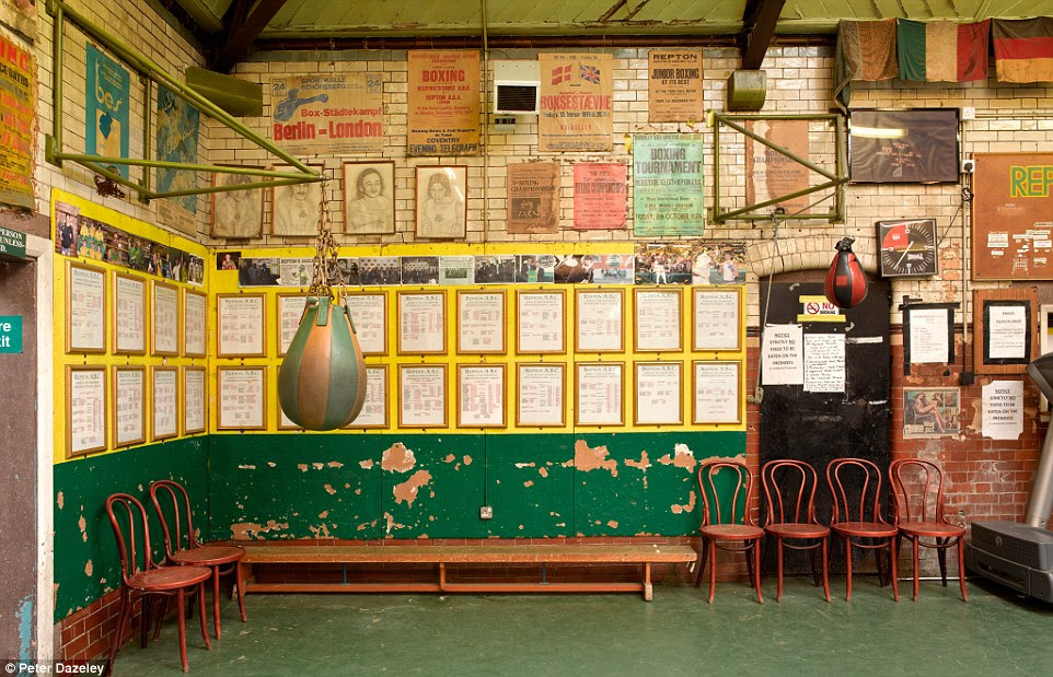 Behind the scenes: One part of the photographer's work reveals interior shots of Repton Boxing Club in Bethnal Green, which launched the career of Audley Harrison