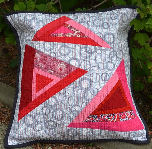 Angles - for the Modern Quilted Pillow Swap