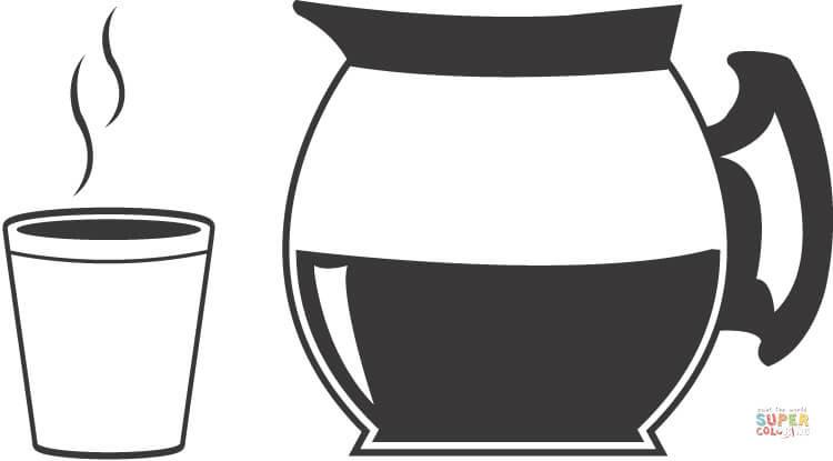 Dibujo De Café Para Colorear Dibujos Para Colorear Imprimir Gratis