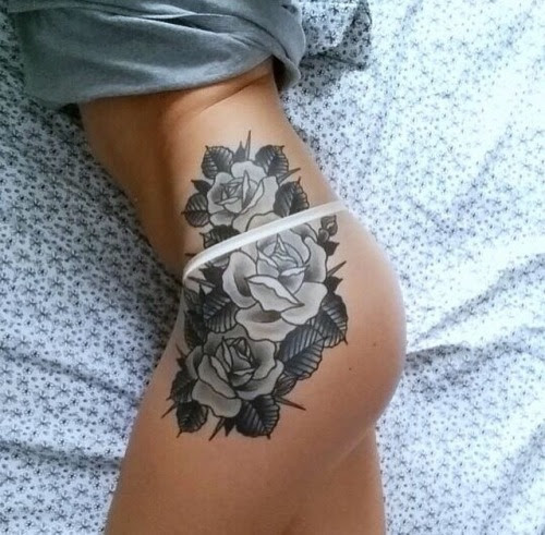 Tattoos Girls With Tattoos Rose Tattoos Thigh Tattoos Flower Tattoos