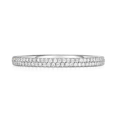 Double Row Half Point Micro Pave Band   Marisa Perry by