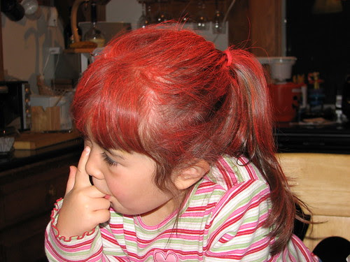 Dova's red hair