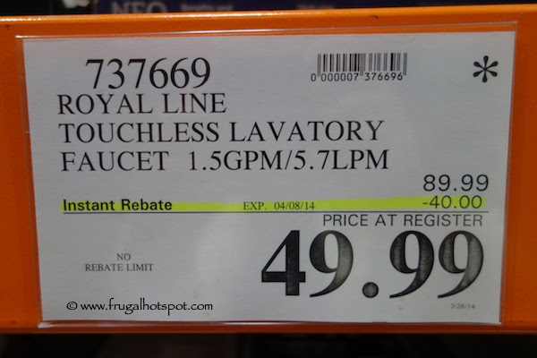 Royal Line Touchless Lavatory Faucet Costco Price