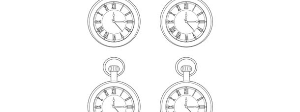 Pocket Watch Template Small
