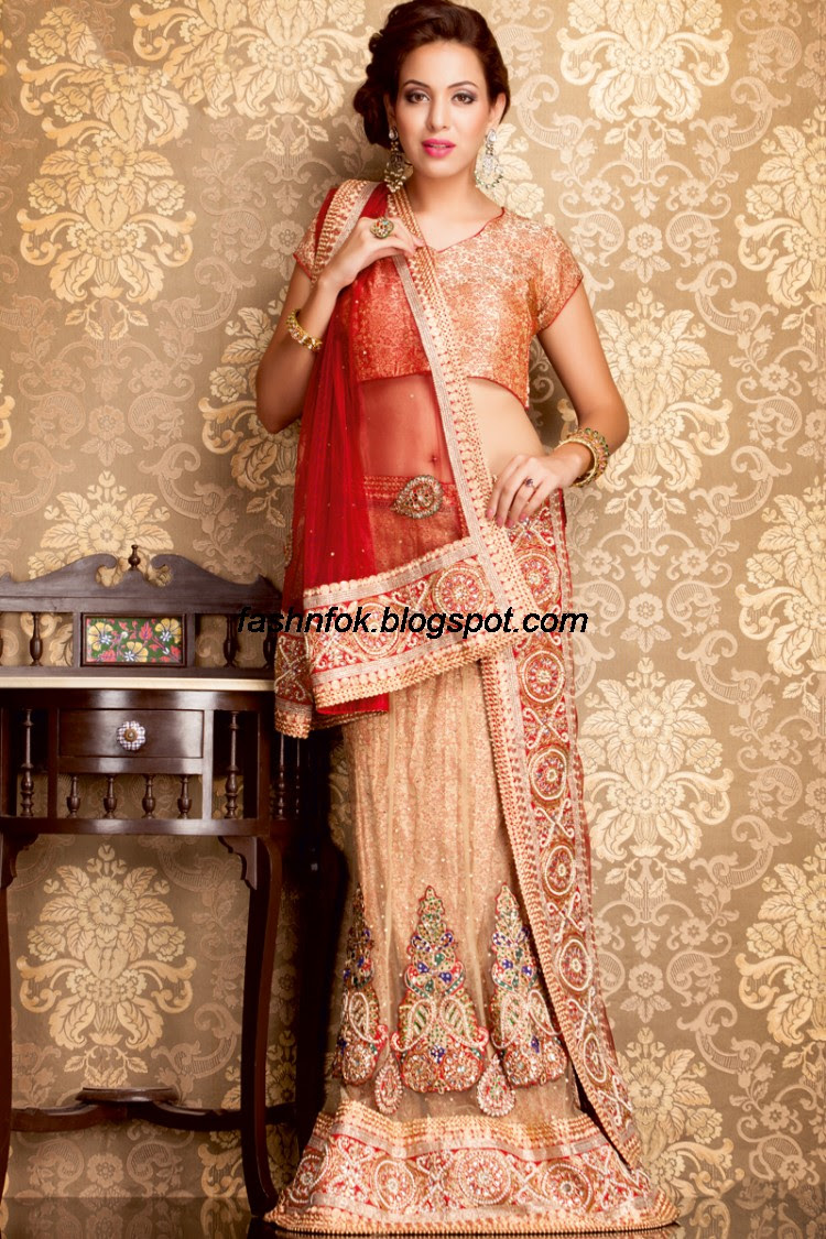 Bridal-Wedding-Wear-Sari-Lehenga-Choli-Latest-Brides-Outfit-for-Girls-Women-2013-5
