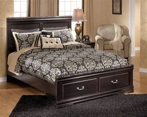 rent furniture ashley esmarelda queen bed rentacenter