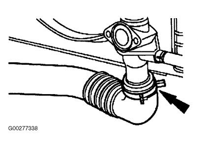 1998 Lincoln Continental Thermostat: Diagram and ...
