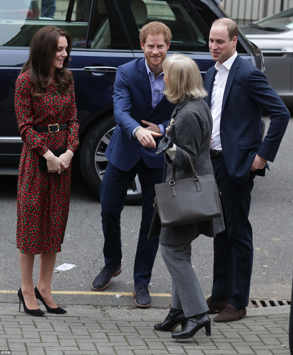 A gift from Meghan? Harry appeared to be sporting a new beaded wristband after royal watchers spotted that he and his girlfriend had matching bracelets