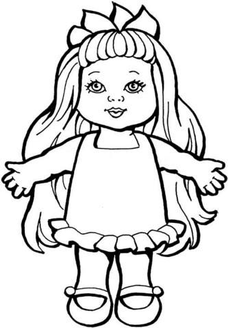 Disegno Di Bambola Da Colorare Disegni Da Colorare E Stampare Gratis