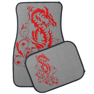 Dragon 20 red floor mat