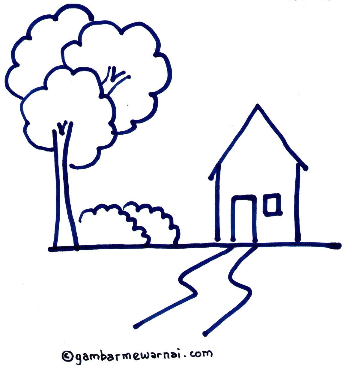Mewarnai Gambar Rumah Dengan Crayon Rumah Ania