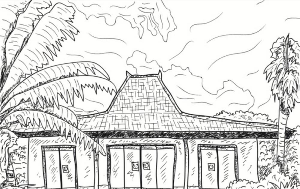 Cara Menggambar Rumah Adat Joglo Yang Mudah Rumah Adat Indonesia