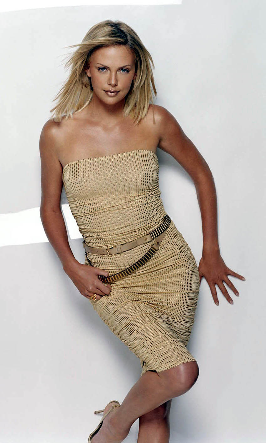 Charlize Theron Vogue magazine cowgirl wallpaper