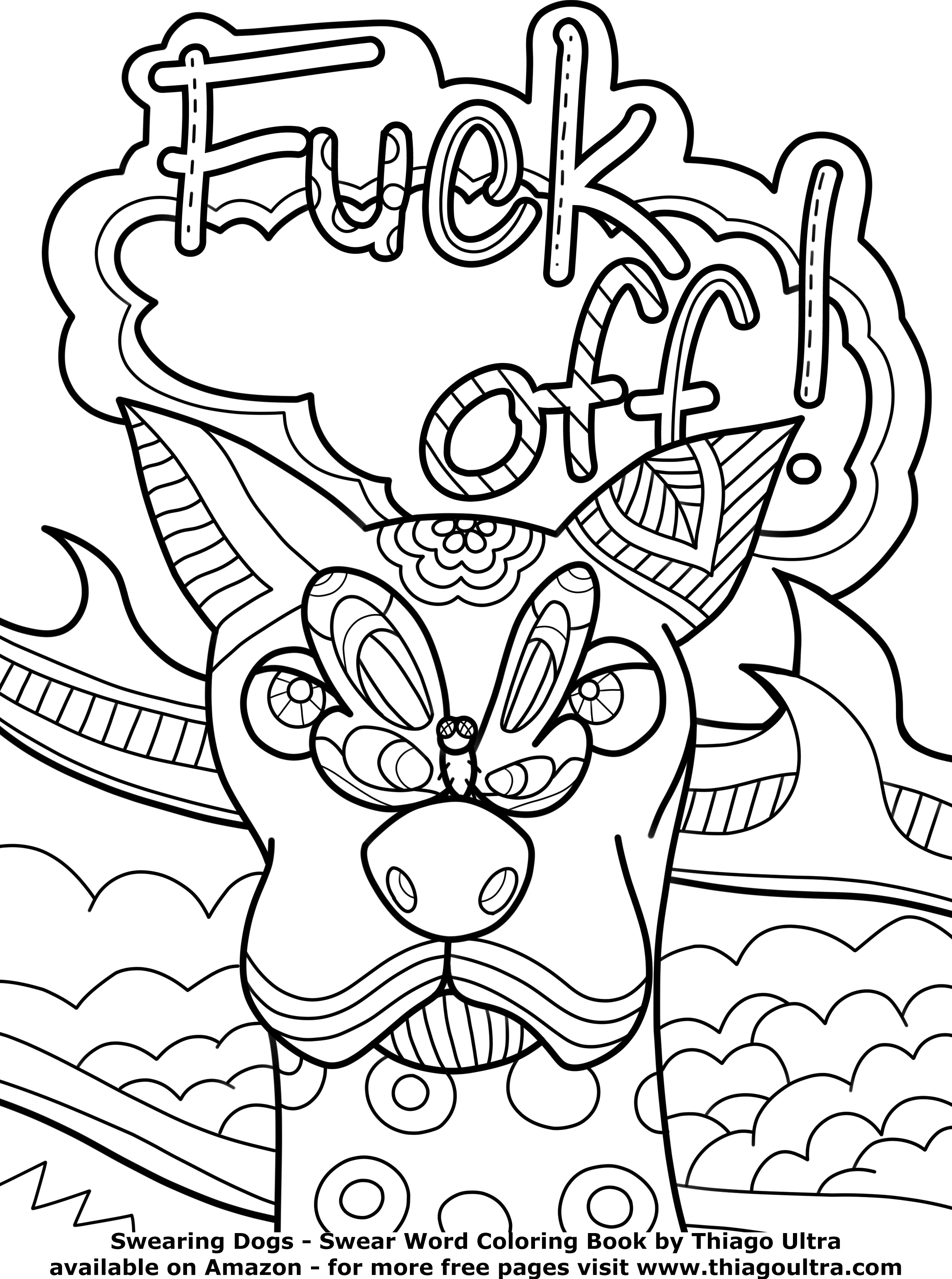 Adult Swear Coloring Pages At Getdrawingscom Free For Personal
