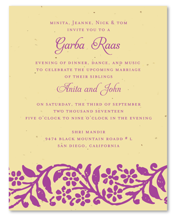 Raas Garba Plantable Invites