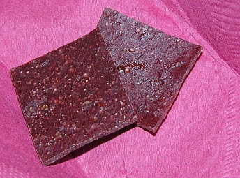 photo of autumn olive fruit leather
