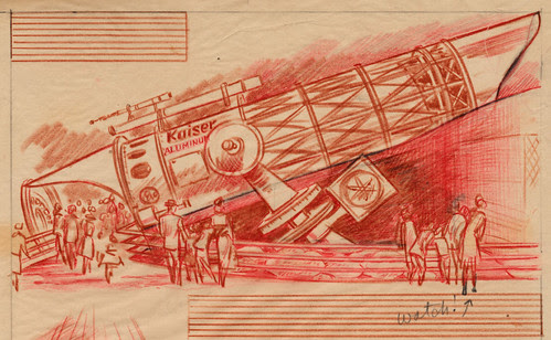 Disneyland Kaiser Aluminum Telescope Sketch, 1955