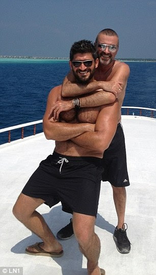 Fadi Fawaz found his boyfriend George Michael dead at his Oxfordshire cottage on Sunday. Pictured: The pair together