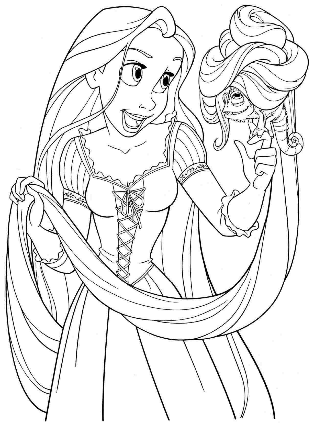 Disney Princess Tangled Coloring Pages At Getcolorings Com Free