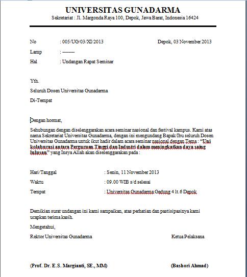 februari 2013 contoh isi undangan