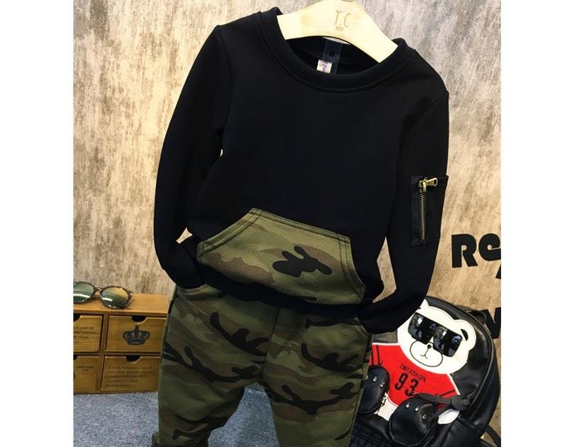 3fa564c9e drinkmangosteen: Comprar Conjunto De Ropa Para Niños Cool 2017 Otoño Traje  Deportivo Blusa Manga Completa + Pantalones Camuflaje Trajes Chándales Fo2  6 Años ...