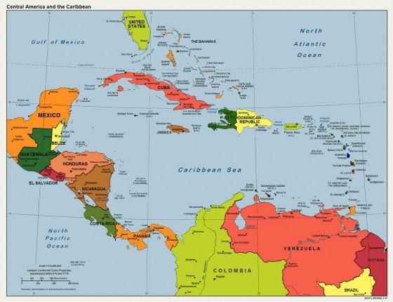 Physische Karte Lateinamerika.Fidedivine 25 Inspirierend Karte Karibik