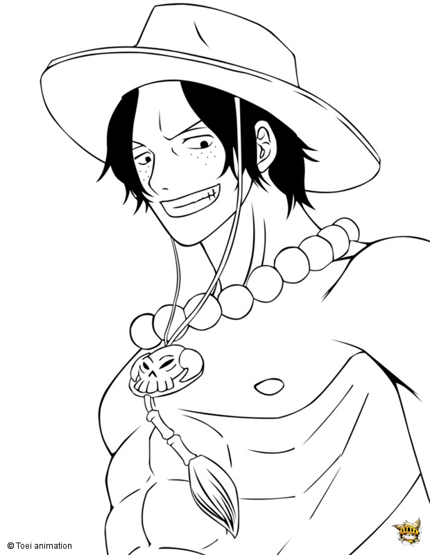 Portgas D Ace Est Un Coloriage De One Piece