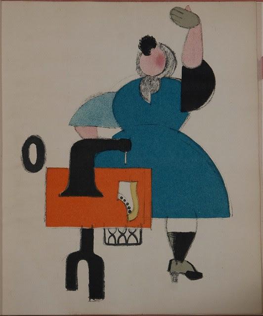 Russian placards, 1917-1922 (Vladimir Lebedev) - A work-woman...(..)