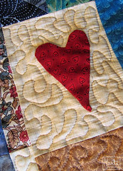 first quilted heart :: første hjerte m quilting