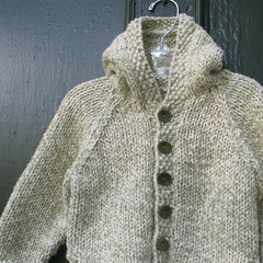 Tweedy jacket hanging
