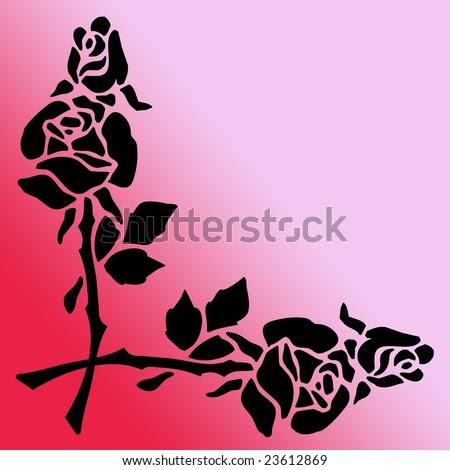 flower clip art borders. a Border Clip Art Stencil