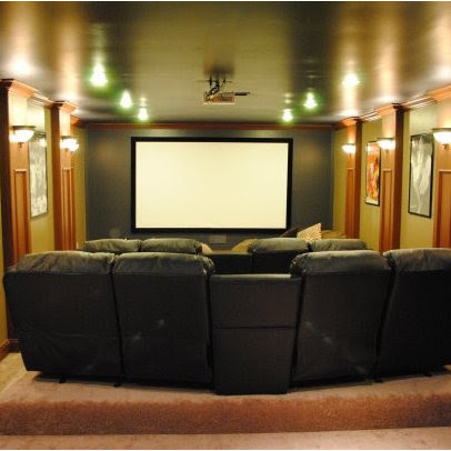 Media Room column Design Ideas, Pictures, Remodel and Decor
