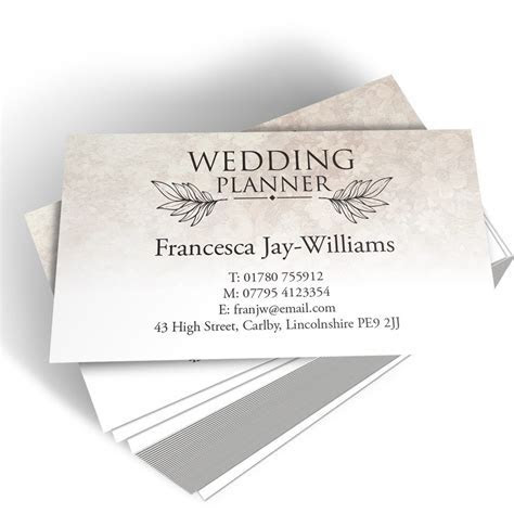 Wedding Planner Templated Business Card 1   Able Labels