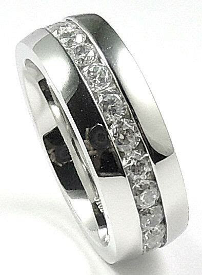8mm Mens Classic Wedding Band Ring Stainless Steel