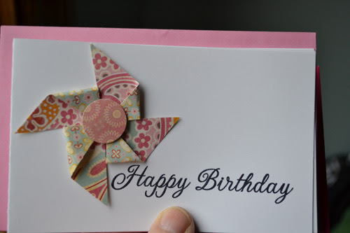 Pinwheel Teacher's Card