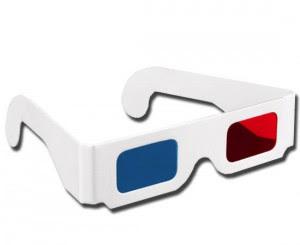 Gafas 3D Rojo-Azul estándar