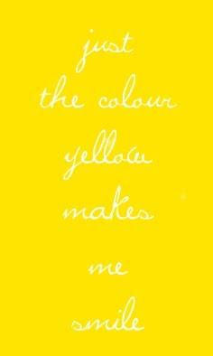 #yellow makes me smile...