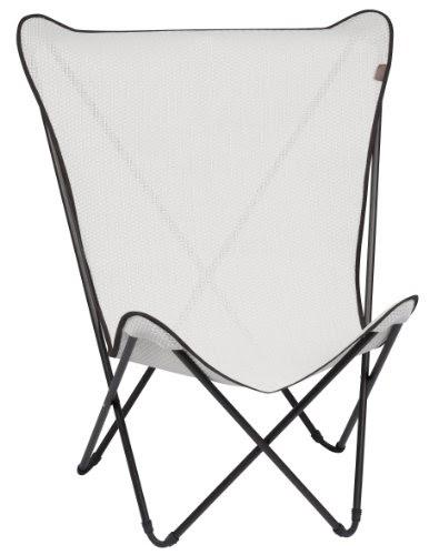 lafuma maxi pop cannage fauteuil pliant kaolin tube marron mobilier de camping chaises. Black Bedroom Furniture Sets. Home Design Ideas