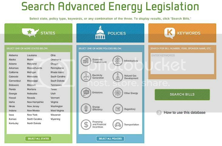 Advanced Energy Legislation Tracker