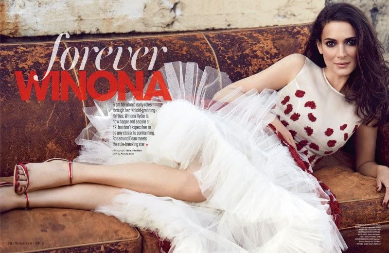 winona ryder red shoot1 800x521 Winona Ryder Charms for Red Magazine Feature by Max Abadian