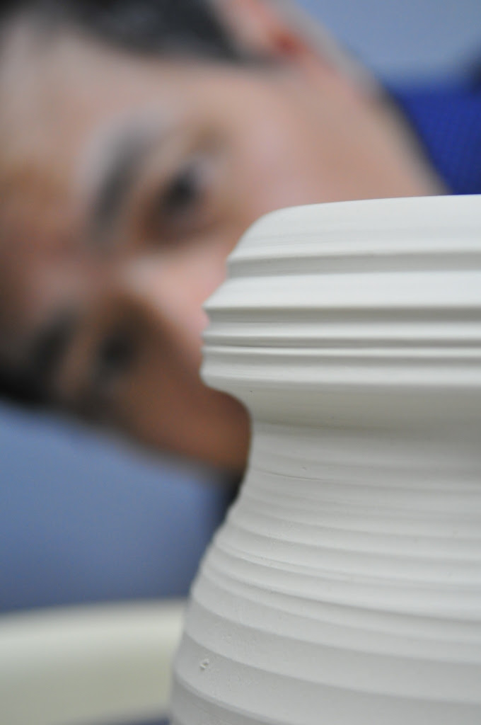 A Pair of Kissing Porcelain Vases by Johnson Tsang porcelain ceramics