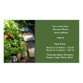 Fresh Herbs for Sale Template Business Card
