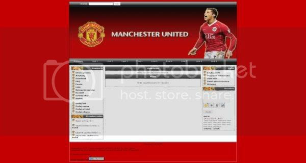 Free php-fusion Manchester United Football Web2.0 Theme