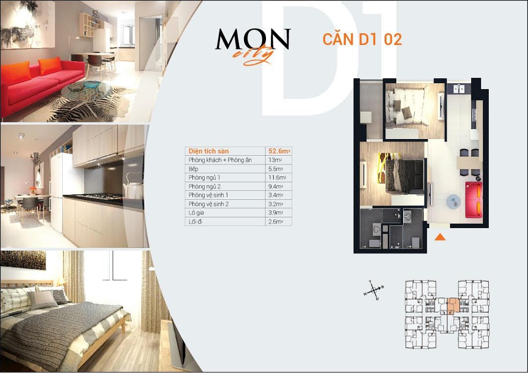 Sơ đồ thiết kế HD Mon City