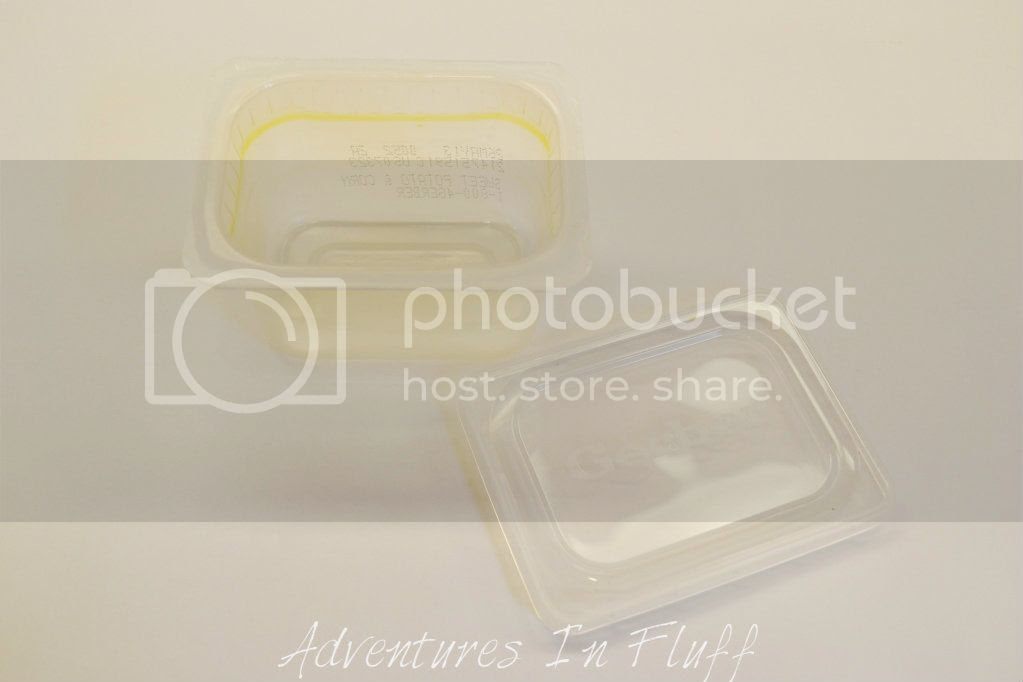 Clean Plastic Baby Food Container