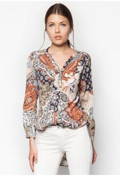 Petite Paisley Print Longline Shirt