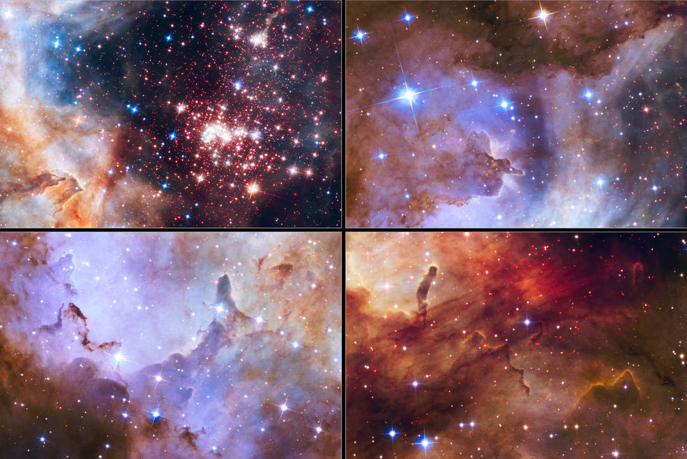 Tapestry of stars seen by Hubble